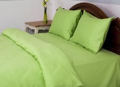 Постельное белье Lotus Сатин Классик зеленый
