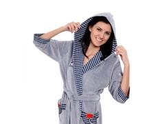 Xалат Arya женский с капюшоном 13035 xxl