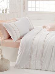 Постельное белье Cotton Box Сатин с вышивкой Alone Pembe