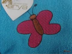 Полотенце Arya 40х60 Butterfly голубой