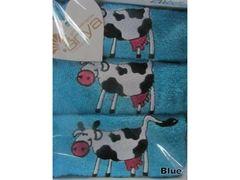 Полотенце Arya 40х60 Cow голубой
