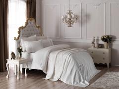 Постельное белье с покрывалом и полотенцами ТАС Жаккард Elena Ekru