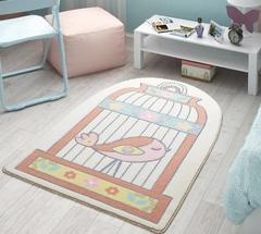 Коврик в детскую комнату 100х150 HAPPY CAGE SALMON