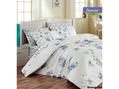 Постельное белье Arya Ранфорс евро Jasmine голубой