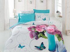 Постельное белье Cotton box Floral Seri 3D Meri