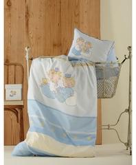 Постельное белье Karaca Home Bebek Mini синий
