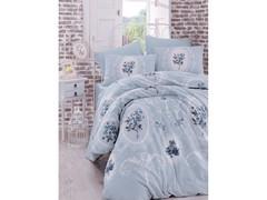 Постельное белье Arya Ранфорс евро Majesty голубой