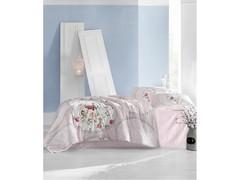 Постельное белье Arya Ранфорс семейный Perlita розовый