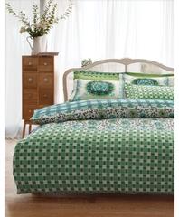 Постельное белье Karaca Home Ранфорс Sita зеленый