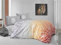 Постельное белье Arya Ранфорс евро Vizyon оранжевый