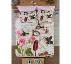 Постельное белье Cotton box Floral Seri 3D Letters