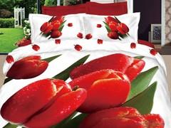 Постельное белье Love You Сатин 3D евро Март
