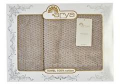 Набор полотенец Arya 50х90 - 70х140 Arno коричневый