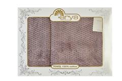 Набор полотенец Arya 50х90 - 70х140 Arno пурпурный
