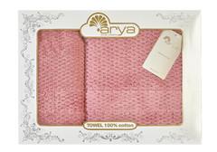 Набор полотенец Arya 50х90 - 70х140 Arno розовый