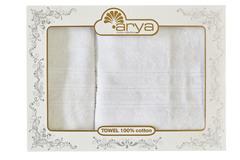 Набор полотенец Arya Бамбук 50х90 - 70х140 Alice белый
