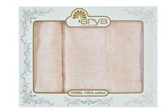 Набор полотенец Arya Бамбук 50х90 - 70х140 Alice персиковый