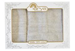 Набор полотенец Arya Бамбук 50х90 - 70х140 Alice бежево-серый
