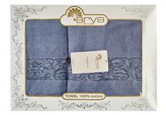 Набор полотенец Arya Микро Коттон 50х90 - 70х140 Jewel темно-голубой