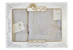 Набор полотенец Arya Микро Коттон 50х90 - 70х140 Jewel серый