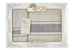Набор полотенец Arya Однотонное 50х90 - 70х140 Trey серый