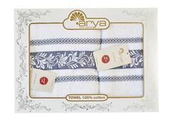 Набор полотенец Arya Жаккард 50х90 - 70х140 Auden синий