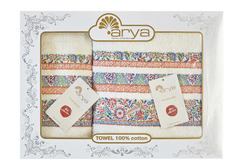Набор полотенец Arya Жаккард 50х90 - 70х140 Dove