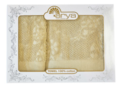 Набор полотенец Arya Жаккард 50х90 - 70х140 Faralya зеленый