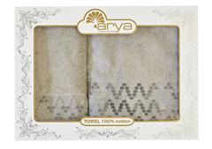 Набор полотенец Arya Жаккард 50х90 - 70х140 Marius серый