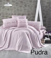 Постельное белье First Choice Ранфорс c вязаным покрывалом Nirvana excellent pudra