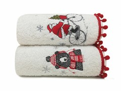 Arya Набор полотенец Рождество с вышивкой 50х90 Ponte