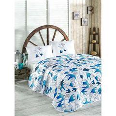 Eponj Home Покрывало 200Х220 YalcinKuslar mavi